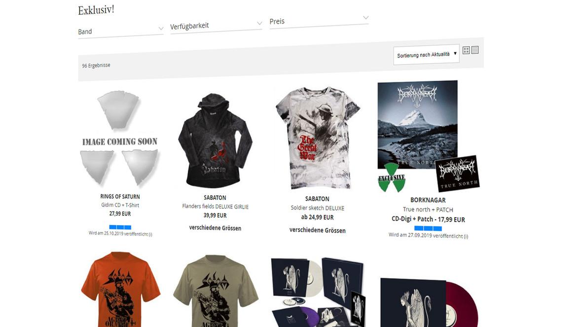 Besucher finden über umfangreiche Filter- und Suchfunktionen schnell den gewünschten Artikel
