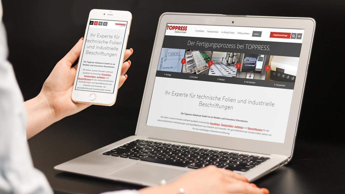 Die Toppress Siebdruck GmbH ist eine flexible und innovative Druckerei