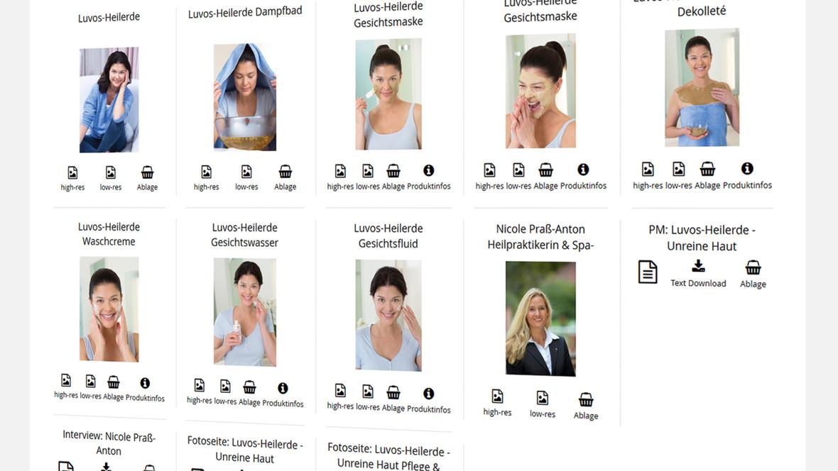 Über Fotostories können die Nutzer Bildmaterial herunterladen oder in Ihre Zwischenablage legen